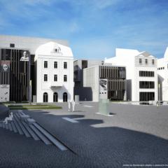 Umělecké centrum, dostavba Sokolovského náměstí